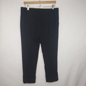 GAP Pants - Gap Black Stretch Cropped Cuffed Trousers